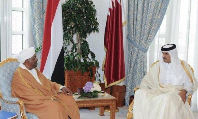 دیدار امیر قطر با عمر البشیر در دوحه