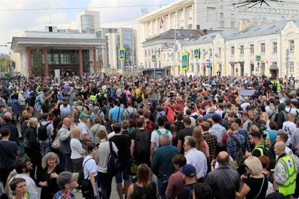 معترضان خواهان برگزاری انتخابات آزاد برای شورای شهر مسکو شدند