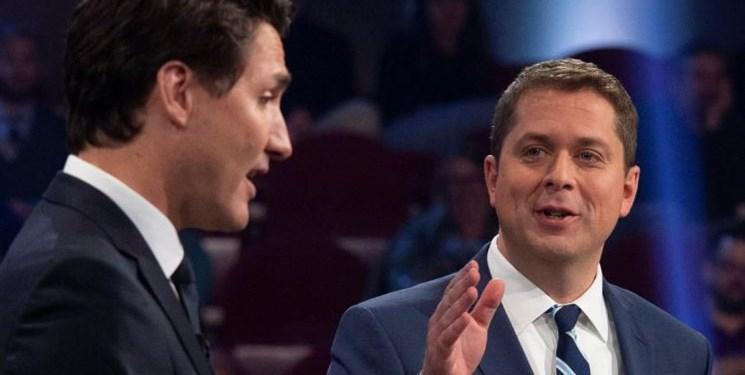 مناظره انتخاباتی کانادا ، نامزد حزب معارض ترودو را متقلب خواند