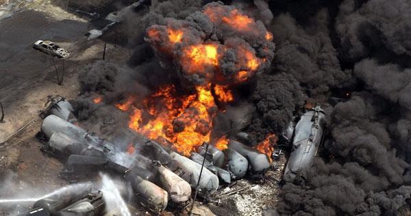 عامل سانحه پر آتش و مرگبار کانادا ترمزهای قطار بود
