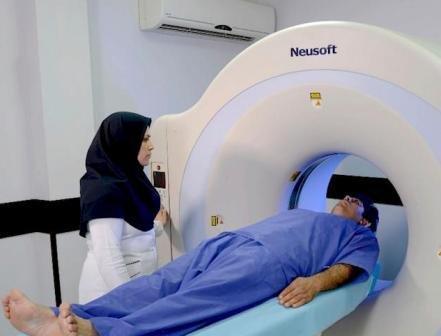 نصب فیزیکی دستگاه سی تی اسکن بیمارستان دکتر معاون صحنه