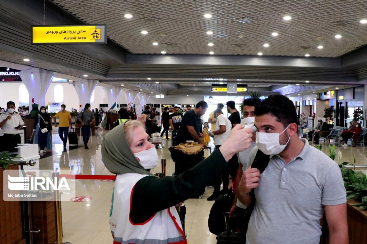 خبرنگاران تب سنجی 6 هزار و 532 مسافر در فرودگاه بجنورد