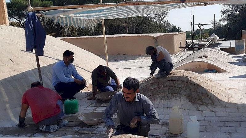 سرانجام عملیات بازسازی پشت بام کاخ هشت بهشت اصفهان