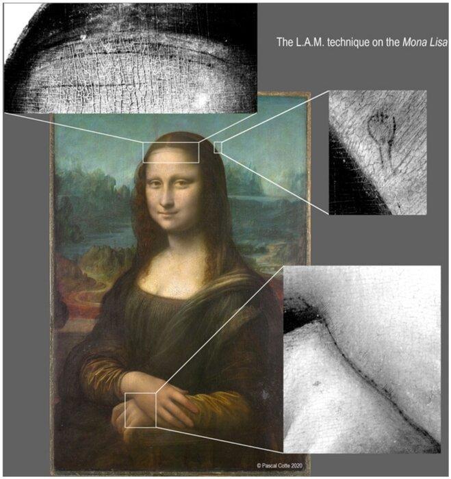 کشف یک طرح مخفی در زیر تابلو نقاشی مونالیزا