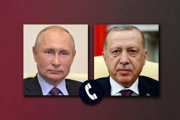 پوتین و اردوغان درباره آتش بس قره باغ رایزنی کردند