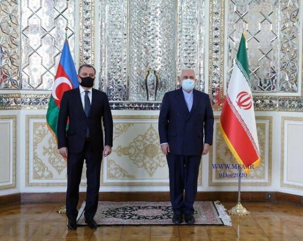 گزارش توییتری ظریف از محورهای رایزنی اخیرش با وزیر امور خارجه آذربایجان