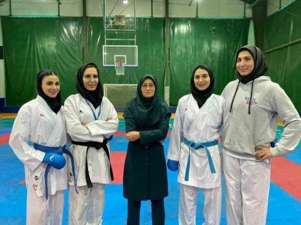 بانوان ملی پوش کاراته در کیش اردو می زنند