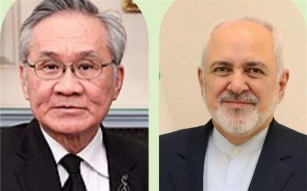 ظریف و معاون نخست وزیر تایلند بر همکاری های دو جانبه موافقت کردند